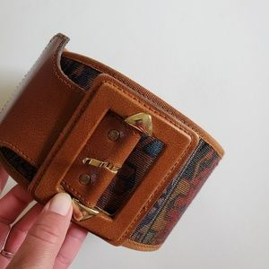 Express wide leather belt size medium
